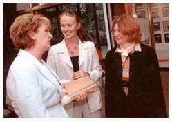 Former President McAleese with Mazz